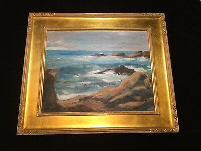 Evelyn Faherty (1919-2015) Oil On Board Coastal Seascape Painting.          *910