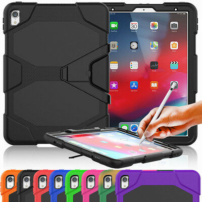 For New iPad Pro 11 Inch 2018 Shockproof Hybrid Stand Case with Screen Protector