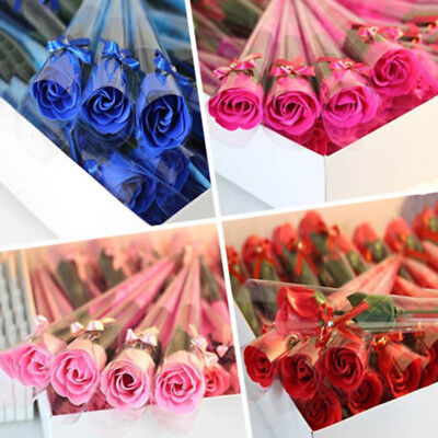 5PC Soap Scented Rose Flower Wedding Christmas Party Decoration Gift Petal New