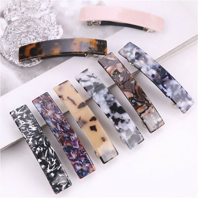 1/2X Leopard French Hair Clip Barrette Bobby Pin Hairpin Accessorie Fashion Girl