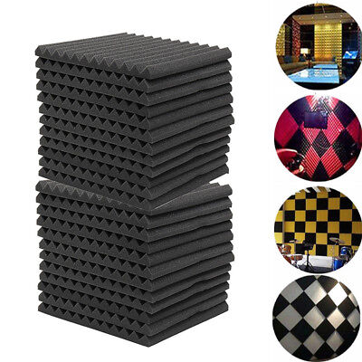 Acoustic Wall Panels KTV Room Sound Proofing Foam Pads Studio Treatments Tools