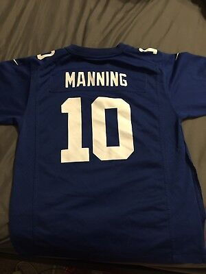 ELI MANNING NIKE Home Blue Jersey. Size Men s Large 48. New With ... b3deaba2a