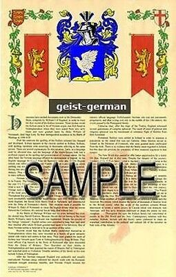 GEIST Armorial Name History - Coat of Arms - Family Crest GIFT! 11x17