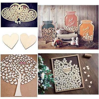 Blank Plain Wood Love Heart Shape for Weddings Plaques Art Craft Embellishment