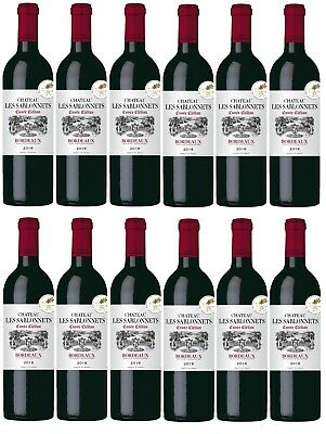 RRP $299! Bordeaux France Chateau Les Sablonnets AOP Red Wine 2016 (12x750ml)
