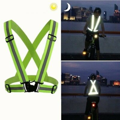 Reflective Safety Vest Belt  Night Riding Running Traffic Security Straps Stripe