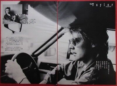 Roger Taylor Queen 1981 Clipping Japan Magazine U1 U13 3Page