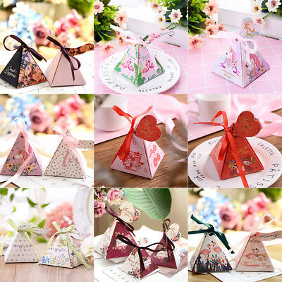 Creative Triangle Shape Paper Box Wedding Favour Supplies Gift Candy Package Box