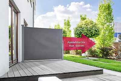 Store Lateral Coupe Vent Brise Vue Protection Solaire Terrasse Jardin Anthracite