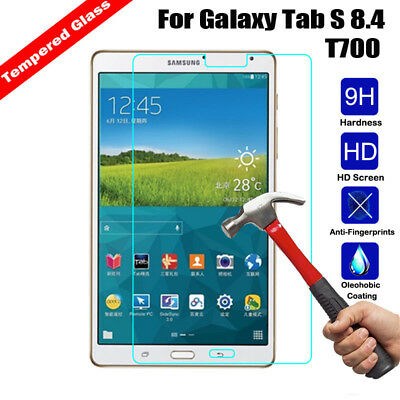 Premium Tempered Glass Screen Protector For Samsung GALAXY Tab S 8.4 T700 T705