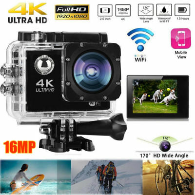 4K 2'' Ultra HD Sports WiFi Cam Action Camera DV Video Recorder Waterproof GoPro