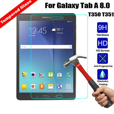 9H+ Tempered Glass Screen Protector Guard For Samsung Galaxy Tab A 8.0 T350 T351