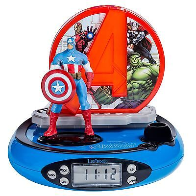 Marvel Avengers Projector Radio Alarm Clock Kids New Official