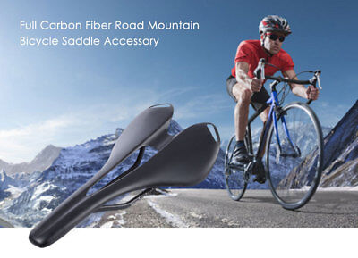 Cycling Bike Saddle for Road Mountain Bicycle Full Carbon Fiber Adjustable New