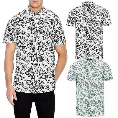 Brave Soul Mens Zarb Shirt Premium Soft Cotton Short Sleeve Hawaiian Summer Top