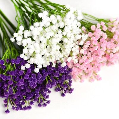 1Bunch Fake Silk Artificial Gypsophila Floral Flower Bouquet Wedding Party Decor