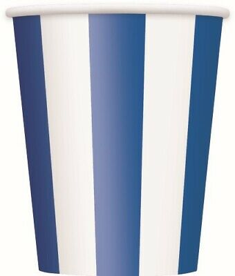 Stripes Royal Blue Paper Cups Pack Of 6 Birthday Party Supplies