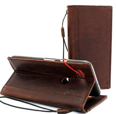 vintage genuine leather case fo Google Pixel 3 book wallet cover closure flip ID