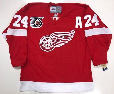 BOB PROBERT DETROIT RED WINGS CCM 1991 NHL 75th ANNIVERSARY JERSEY NEW W/TAGS