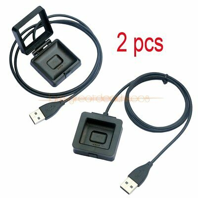 2X USB Charging Cable Power Charger Dock Station Cradle For Fitbit Blaze Watch