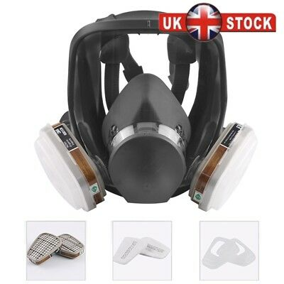 3M 6000 Series Full Face Vapour Gas Dust Mask Respirator - 6800 Spray Paint Hot