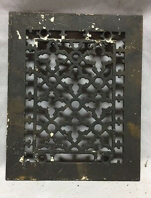 One Antique Rectangular Heat Grate Grill Gothic Decorative 8X10 698-18C