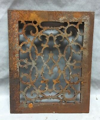 One Antique Rectangular Heat Grate Grill Decorative 8X10 700-18C
