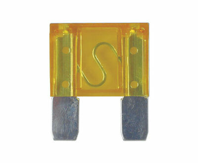 Automotive Maxi Blade Fuse 20 Amp Yellow Qty 100