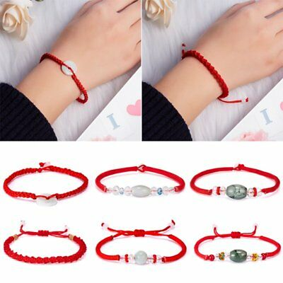 Men Women Hand Braided Red Rope Cord Bracelet Simple Style Couples Lucky String