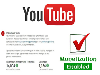 YOUTUBE Service l Get a Monetization Enabled Youtube Channel to earn MONEY