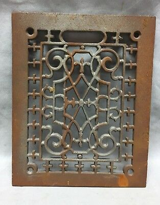 One Antique Rectangular Heat Grate Grill Decorative 8X9 704-18C