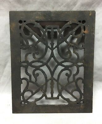 One Antique Rectangular Heat Grate Grill Decorative 8X10 706-18C