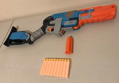 Nerf Zombie Strike Sledgefire Fully Loaded With 1 SHELL & 10 New Darts Bundle