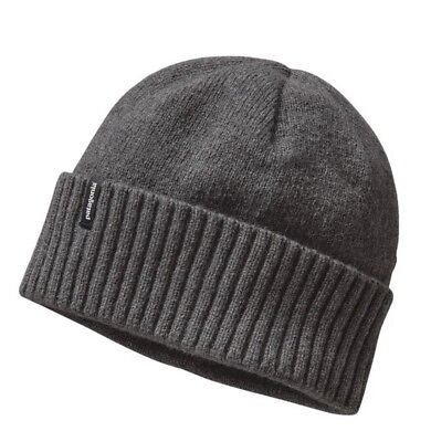 New NWT Gray Grey Patagonia Brodeo Beanie Wool Cap Skull Hat Unisex OSFA
