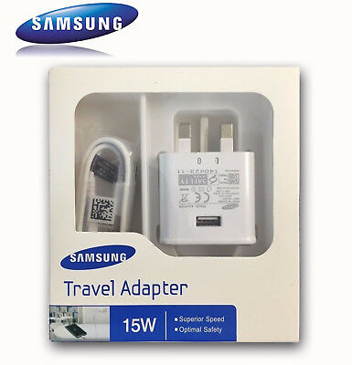 Genuine Samsung Fast Charger Plug & Micro Cable For Galaxy S7,S6,S5,S4,J1,J3
