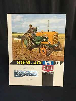 Rare Catalogue Original 1961 Tracteur SOMECA SOM.40 !!!