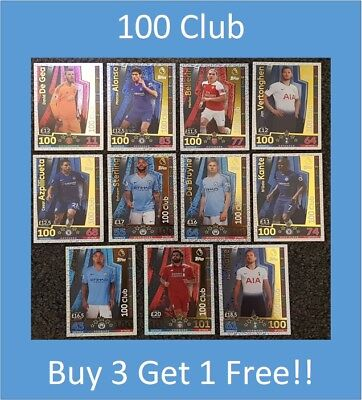 Match Attax 2018/19 EPL Soccer Football Cards - 100 CLUB - Buy 3 Get 1 FREE