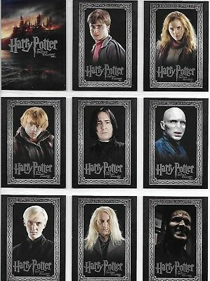 Harry Potter and the Deathly Hallows Part 1 #1-90 Complete Base Card Set 2010