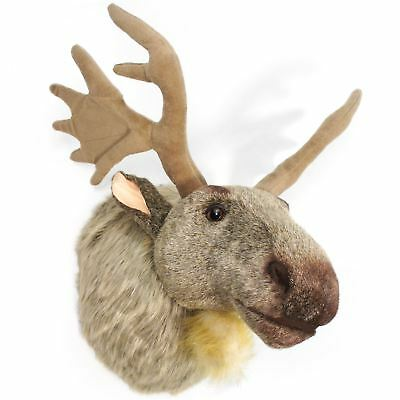 Muscovy the Moose | 24 Inch (With Antlers) Plush Head Wall Mount Bust