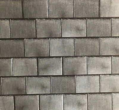 A3 Embossed Dark Roof Slates, Dolls House Miniature, Roof