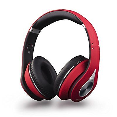 August headphone EP640 red Bluetooth wireless cable detachable F/S w/Tracking#