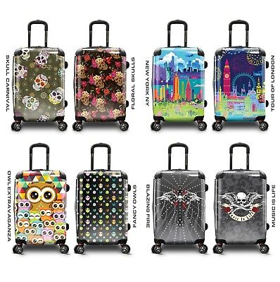 """Traveler's Choice Fancy Print 22"""" Carry-on Expandable Spinner Luggage Suitcase"""