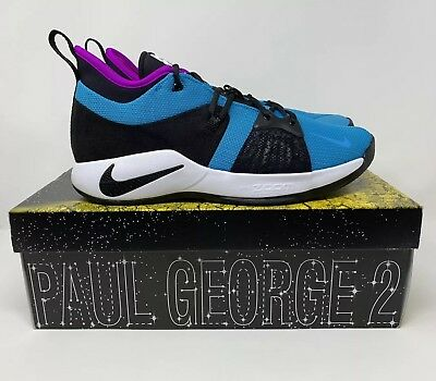 Nike PG 2 Blue Lagoon Paul George Basketball Shoes AJ2039- 402 Men's Size 10.5