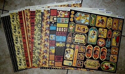 Graphic 45 Le Cirque 12x12 Papers- 12 Sheets PLUS -RETIRED-RARE