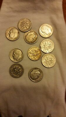 90% US SILVER COINS-$1 FACE VALUE COULD CONTAIN DIMES and or QUARTERS all pre65