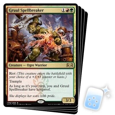 GRUUL SPELLBREAKER X4 Ravnica Allegiance RNA Magic MTG MINT CARD