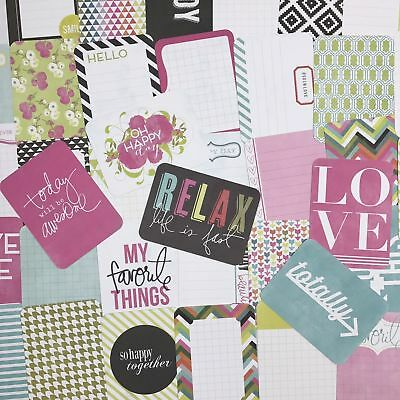50 Project Life Cards 3x4 Favorite Things Pink Quote Craft Scrapbook Journaling