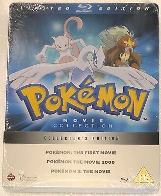 The Pokemon Movie Collection Steelbook - Limited Edition Blu-Ray **Region B**