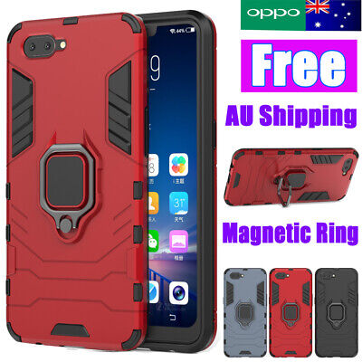 Heavy Duty Hybrid Hard Armor Shockproof Case KickStand Cover For Oppo A5 AX5 A3s