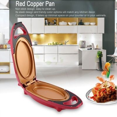 Red Copper Pan Double-Coated Smokeless Non-stick 5 Minute Chef Electric Cooker